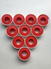 "10 Rolls Ptfe Teflon Plumbing Pipe Thread Seal Tape 1/2"" x 520"" - 43 Feet"