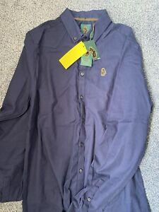 LUKE 1977 Shirt, Navy UK SIZE MEDIUM BNWT