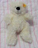 "Steiff Lotte ivory white teddy bear stuffed plush baby toy 111365  7"" or 18 cm"
