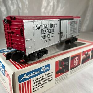 American Flyer # 6-48805 Dairy Dispatch Insulated Box Car LN/IN Rare