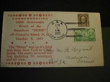 Steamboat HOME Naval Cover 1937 OCRACOKE ISLAND, NC Wreck Cachet USS NEW YORK BB