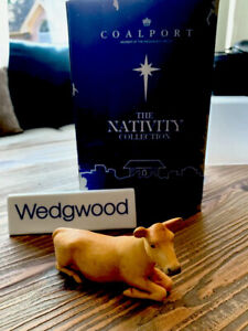 Coalport Wedgwood Nativity Collection Cow - VERY RARE -Vintage, in original box