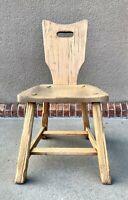 A Brandt Ranch Oak Western Style Side Chair 1950s