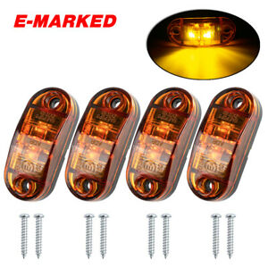Car LED Side Marker Light Lamps Universal for Trailer Van Caravan Truck Lorry
