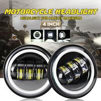 """2x 4"""" 6 LED Motorcycle Headlight Spot Fog Light Flood Lamps For Harley Davidson"""