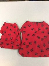 LOT OF 2 PET PUPPY DOG CLOTHES JACKETS RED AND BLACK WINTER