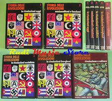 book libro STORIA DELLE RIVOLUZIONI 5 volumi 1973 FRATELLI FABBRI EDITORI