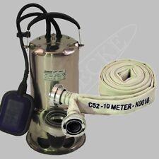 Schmutzwassertauchpumpe/Schmutzwasserpumpe C-Rohr/Schlauch 10 m/Hochwasserpumpe
