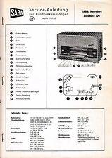 Service manuel d'instructions Saba Meersburg Automatique 100