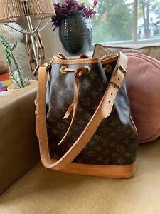 Louis Vuitton Noe Monogram Drawstring Bucket Bag CHAMPAGNE TOTE EUC AUTHENTIC