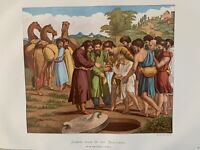 1865 Raphael's Joseph Sold by his Brothers Genesis Antique Print Leighton Bros