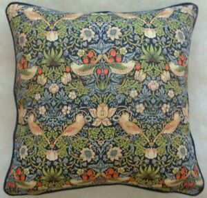 """STRAWBERRY THIEF BY WILLIAM MORRIS 18"""" CUSHION COVER STUNNING DESIGN 100% COTTON"""