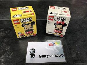 LEGO 41624 + 41625 MICKEY MOUSE & MINNIE MOUSE BRICKHEADZ 6225332 6225328 Maus
