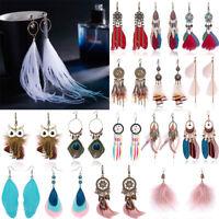 Boho Dreamcatcher Tassel Owl Long Drop Dangle Earrings Hook Womens Jewellery Hot