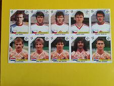 Fogli Calciatori Panini Italia 90 sheet 10 sticker Gullit Van Basten  Mint
