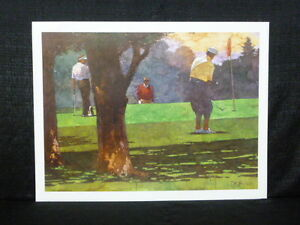 Bart Forbes Morning Round Payne Stewart Fred Couples Arnold Palmer Golf Litho