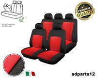Coprisedili Rosso-Nero Universali Tessuto Copri Sedili Per Auto 4x4 Offroad Taxi