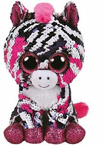 Ty Beanie Flippable Zoe the Zebra 15cm Plush Soft Toy