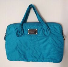 Marc Jacobs Turquoise Nylon Quilted Laptop/Tablet Bag...Great Condition!