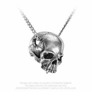 Alchemy Gothic Remains Skull Unisex Pewter Pendant Necklace - Gothic,Goth