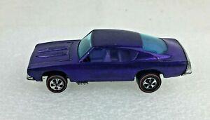 Original Mattel Hot Wheels Redline 1968 Purple Custom Barracuda Purple Interior