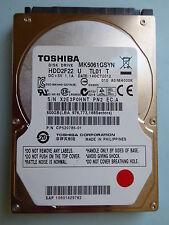 Toshiba MK 5061 GSYN hdd2f22 U T tl01 | mh000k | 14 Oct 2012 | 500 GB