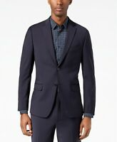 $450 Calvin Klein Navy Milo Notch Collar Skinny Fit Suit Jacket Mens 42S 42 NEW