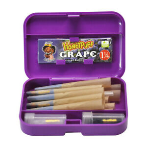 HONEYPUFF Rolling Papers Box Set 78MM Grape Flavored Natural Cones Glass Filters