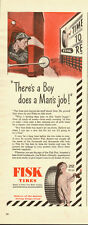 1944 Vintage ad for FISK Tires~WWII era`Fish Tire Boy (120613)