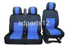 2+1 BLUE-BLACK QUALITY FABRIC SEAT COVERS FOR RENAULT TRAFIC MASTER NEW