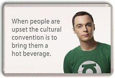 "Sheldon Cooper ""Hot Beverage"" Big Bang Theory  Fridge Magnet"