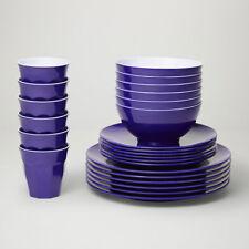 Barel Designs Classic Violet Melamine 48 Piece Dinner Set - Cups, Bowls, Plates