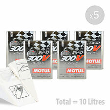Car Engine Oil Service Kit / Pack 10 LITRES Motul 300V Power 5W-40 10L