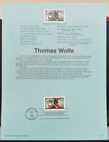 Scott # 3344 - US Souvenir Sheet - Thomas Wolfe - MNH - 2000