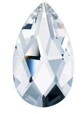 1 Piece - 50mm Clear Swarovski Crystal Chandelier Parts STRASS Pear-shape 1 Hole