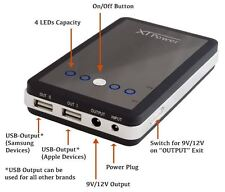 MP-10000 External Battery Pack with 10000mAh using dual USB 5V and DC 9V / 12V