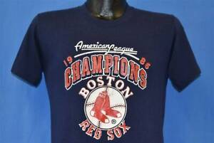 80s Boston Red Sox American League Champs 1986 MLB T Shirt Vintage Men Gift Tee