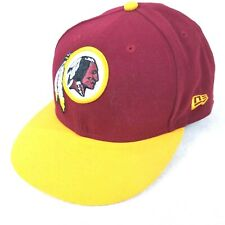 4429a7722 New Era NFL Team 59FIFTY Washington Redskins Burgundy Ball Cap Flat Brim 7  3 4