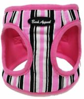Canvas Dog Harness Pink Stripe Step In EZ Wrap No Choke Bark Appeal Puppy