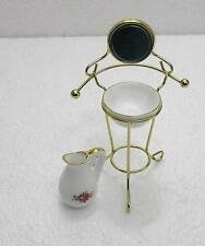 1:12  Doll House Miniature Metal Wash Basin Stand Furniture Pitcher Set