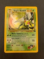 Pokemon Wizards of the Coast Gym Challenge Koga's Beedrill Holo Rare 9/132