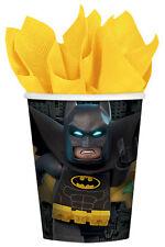 LEGO BATMAN 9oz PAPER CUPS (8) ~ Birthday Party Supplies Dinner Luncheon DC Boy