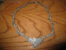 """AR Sterling & Stone Inlay 18"""" Necklace TAXCO"""