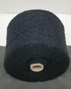 Wolle Garn Stricken weben Bouclé schwarz schurwolle-mixlhandstrickgarn 1kg b46