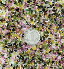 50g NATURAL TOURMALINE CHIPS SMALL STONES WHOLESALE ALTAR OFFERING MANDALA =