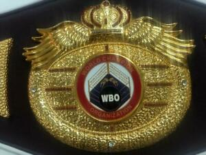 WBO INTERNATIONAL BOXING TITLE CHAMPIONSHIP BELT ADULT SIZE WBC WBO IBO 3D