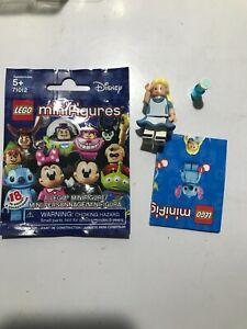 New LEGO® Alice (in Wonderland) (w/ Stand & Accessories) Minifigure - Disney