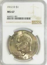 1972-D Eisenhower Dollar - NGC MS67 - POP of 6 - None Higher !!!