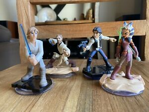 🤎🤍LOT 4 FIGURINES DISNEY INFINITY 3.0 COLLECTION STAR WARS 🤍🤎