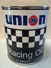 Vintage Union 76 Racing Oil Can 1 qt. -  ( Reproduction Tin Collectible )